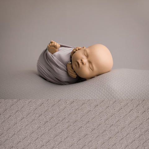 Newborn McKenzie Pebble Grey Backdrop and Wrap