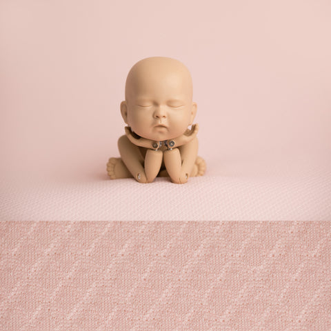 Newborn Fabric Backdrop - McKenzie - Pale Pink