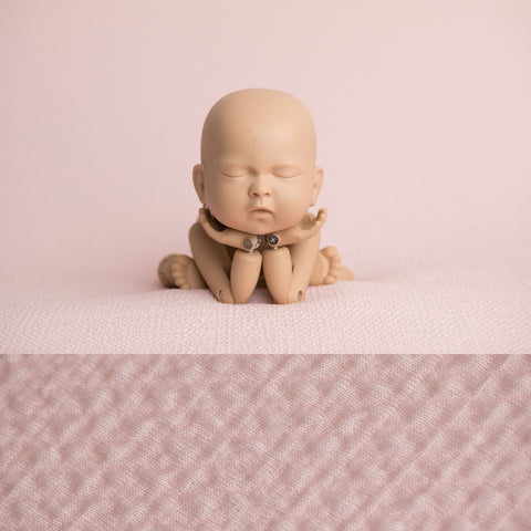 Newborn Fabric Backdrop - Riley - Pale Pink