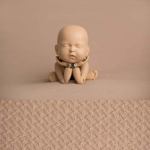 Newborn Fabric Backdrop - Rowan - Tan