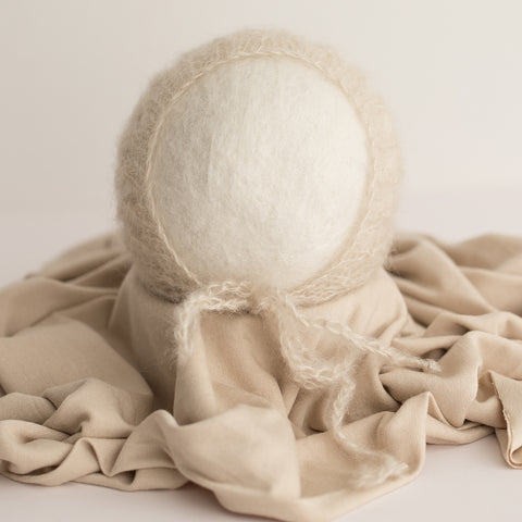 Newborn Bonnet & Wrap Set - Stone