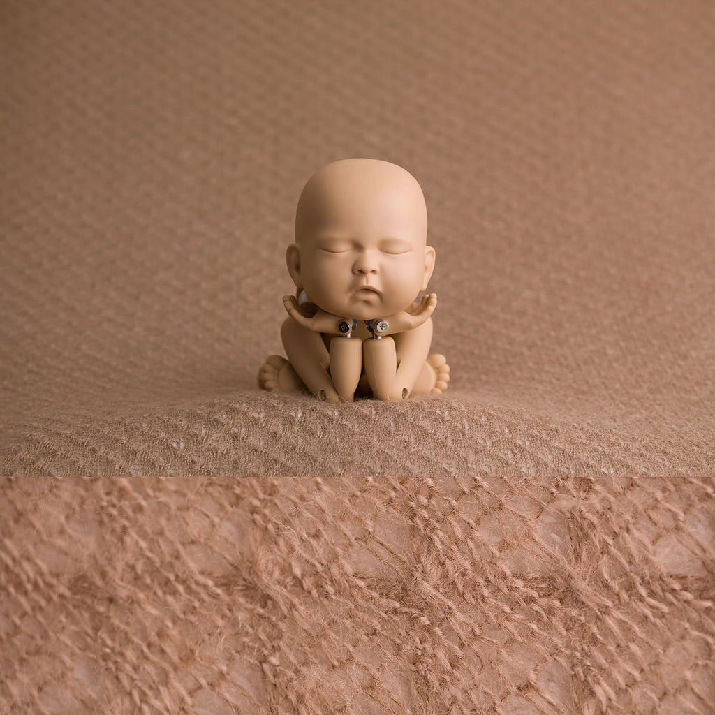 Newborn Fabric Backdrop - Tanner - Tawny