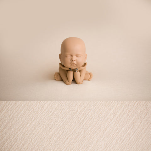 Newborn Fabric Backdrop - Tatum - Cream
