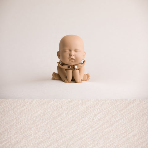 Newborn Fabric Backdrop - Tatum - Ivory