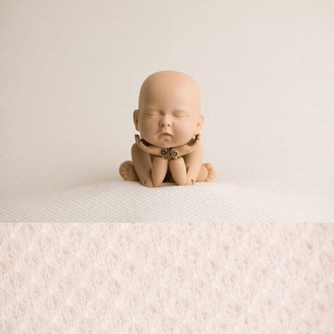 Newborn Fabric Backdrop - Teddy - Ivory