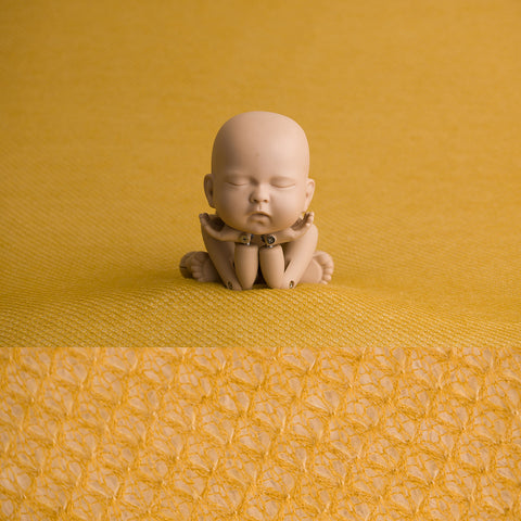 Newborn Fabric Backdrop - Teddy - Mustard
