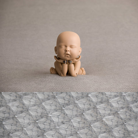 Fabric Backdrop - Teddy - Grey