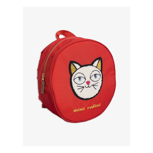 Mini Rodini CAT BACKPACK-red