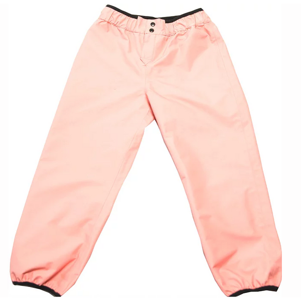 PINK AND BROWN REVERSIBLE RAIN PANTS