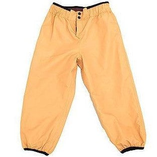 YELLOW BROWN AND BROWN REVERSIBLE RAIN PANTS