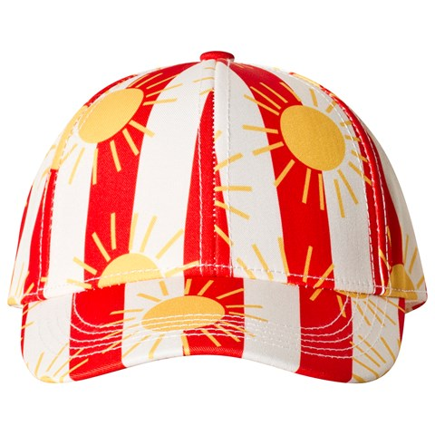 Mini Rodini Sun Stripe Cap Red