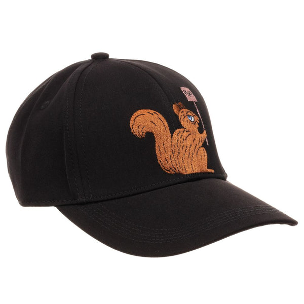 MINI RODINI Unisex Black Squirrel Cap