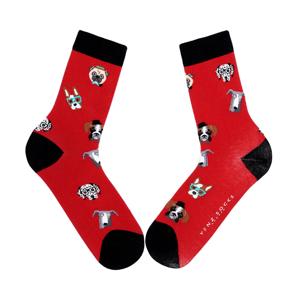 Animal lover dog design socks
