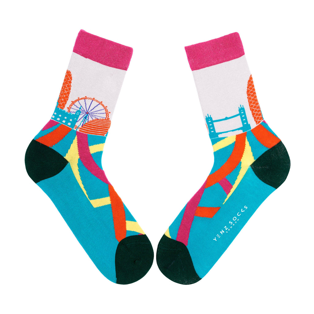 London skyline socks for adults