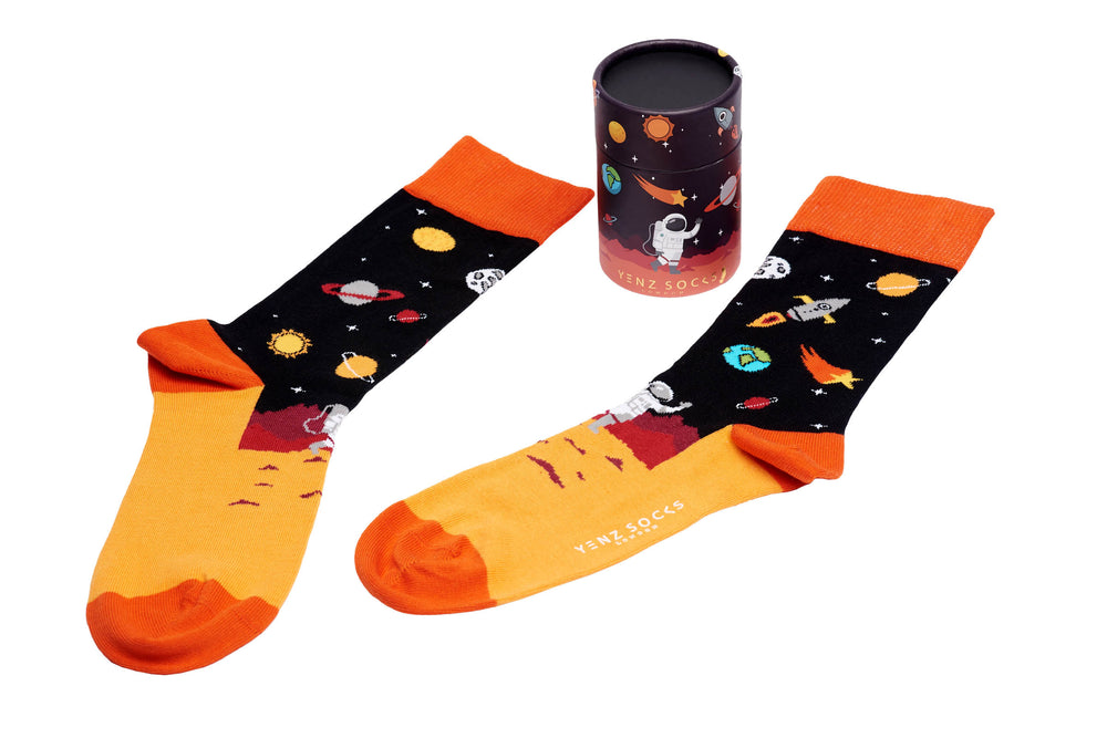 Mens space astronaut socks