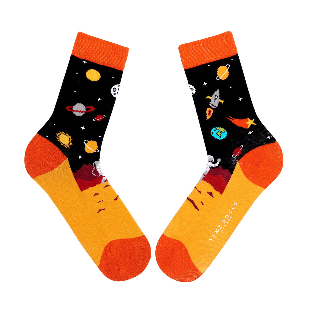 Novelty planet design socks