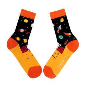 Ladies space astronaut socks