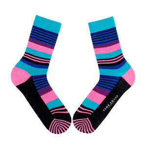 Ladies colourful stripy socks