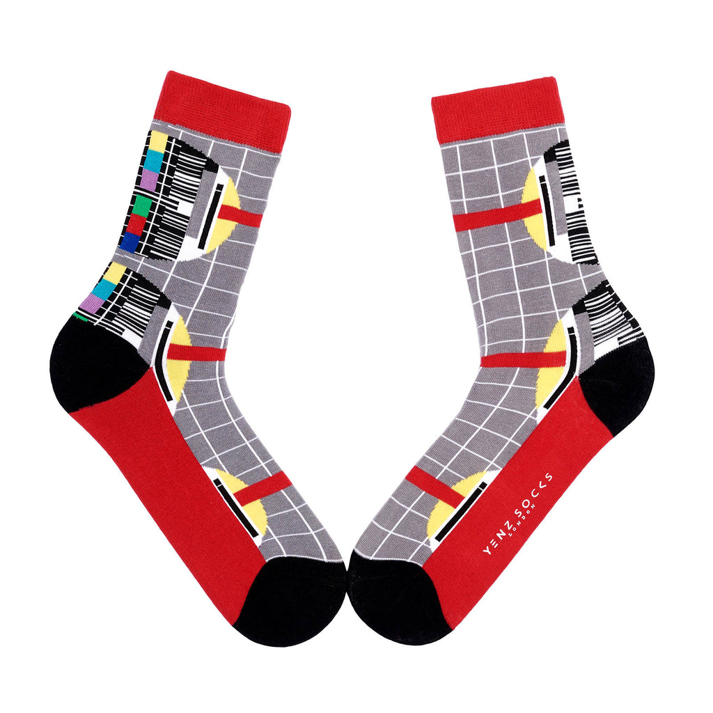Vintage Design Test Card Socks