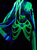 Neon Green Glitter Star Harness