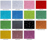 Crescent Moons Single Sided Glitter Colors