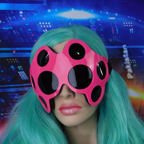 Neon Pink and Black Spider Goggles