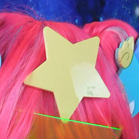 Lemon Bonbon Pastel Yellow Star Hair Clip