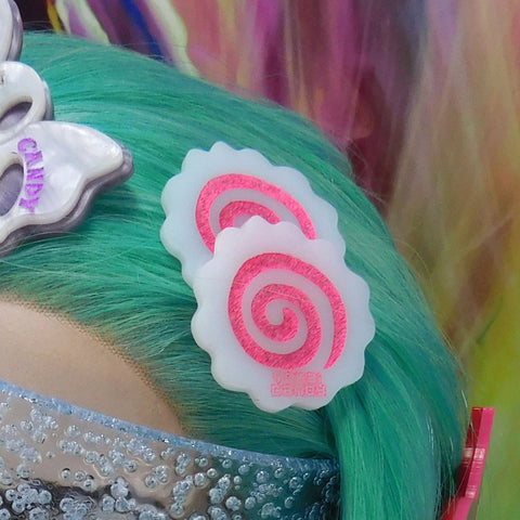 Hot Pink Narutomaki Hair Clip