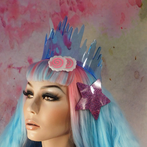 Neon Blue Drippy Slime Tiara OR ANY COLOR