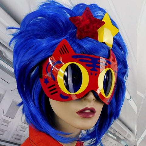 Red, Yellow and Blue Tiger Goggles