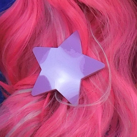 Sour Grape Gloss Star Hair Clip