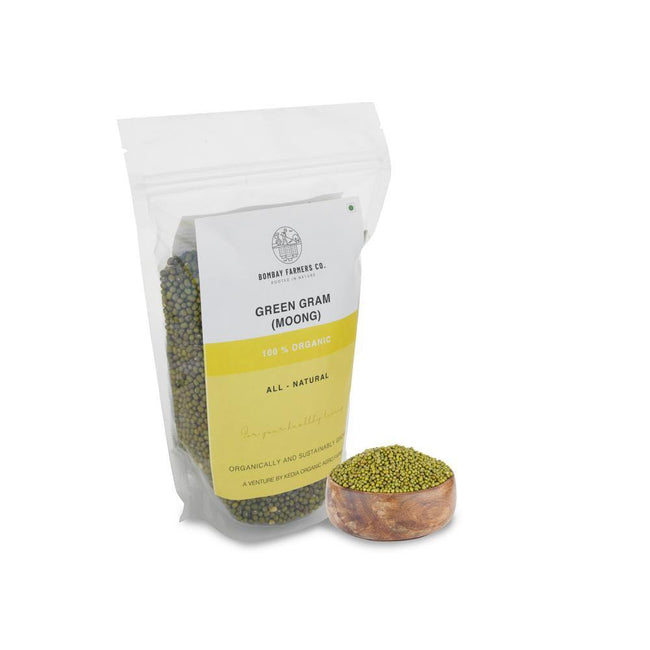 Moong Green Whole 500Gms - Kedia Organic Agro Farms - #www.kediaorganic.com#