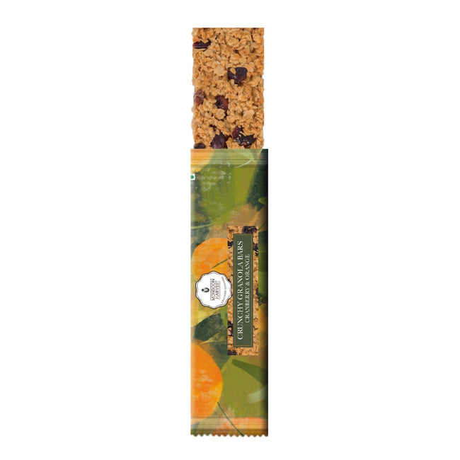 Monsoon Harvest - Crunchy Granola Bars - Cranberry & Orange