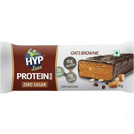 HYP - Sugarfree Whey Protein Bar - Oats Brownie