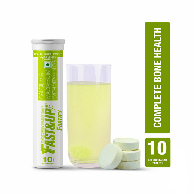 Fast&Up - Fortify - Bone Health - Lime and Lemon (10 Effervescent Tablets)