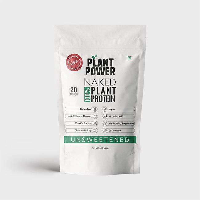 Plant Power - 100% Naked Plant Protein Isolate - Daily Health Supplement