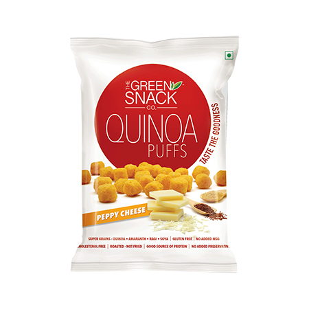 The Green Snack Co - Quinoa Puffs - Peppy Cheese