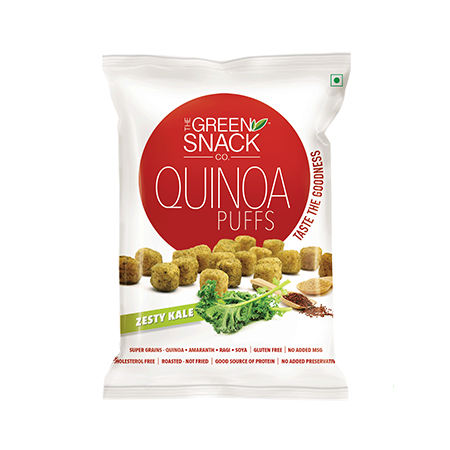 The Green Snack Co - Quinoa Puffs - Zesty Kale