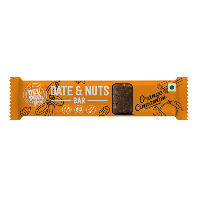 Dev Pro - Date and Nuts Bar - Orange Cinnamon