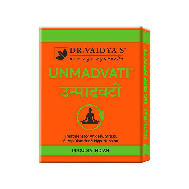Dr. Vaidya's New Age Ayurveda | Unmadvati Pills | Sleep, Anxiety, Stress and Hypertension (Pack of 3)