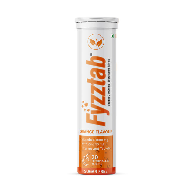 Fyzztab - Natural Vitamin C and Zinc (20 Effervescent Tablets)