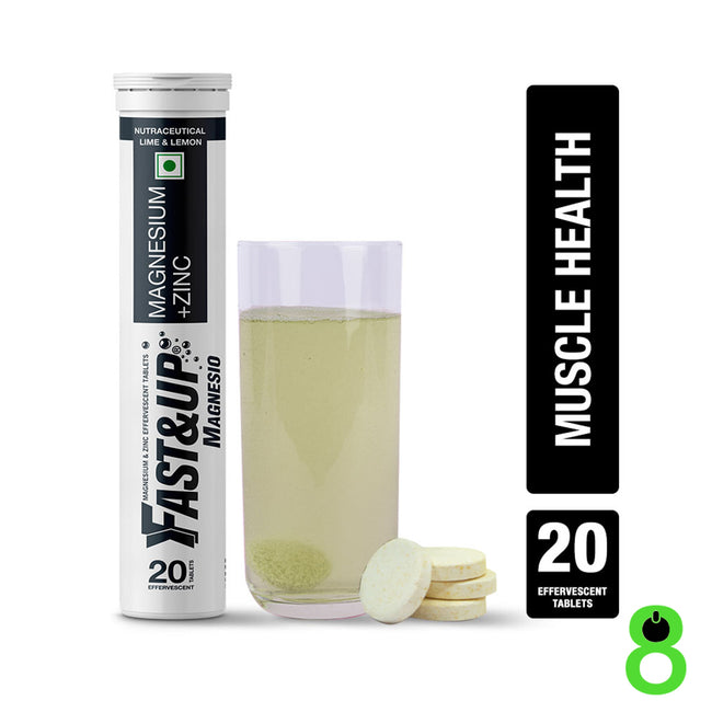 Fast&Up - Magnesio - Muscle Health and Stress - Lime and Lemon (20 Effervescent Tablets)