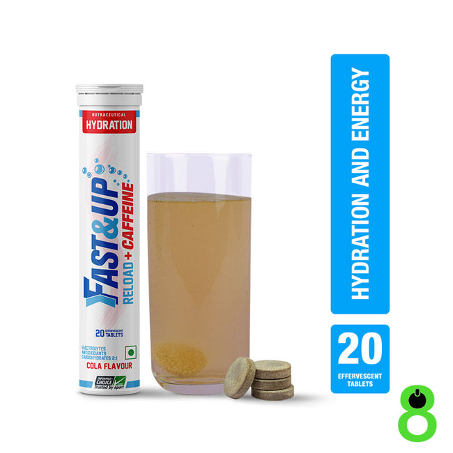 Fast&Up - Reload - Instant Energy and Hydration - Cola with Added Caffeine (20 Effervescent Tablets)