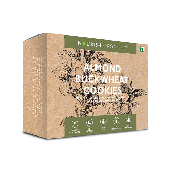Nourish Organics - Cookies - Almond Buckwheat