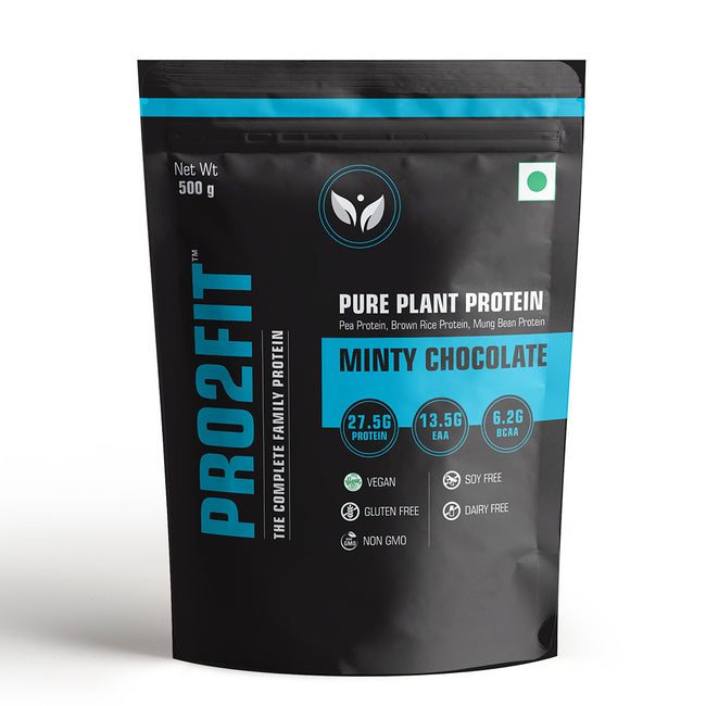 PRO2FIT - Pure Plant Protein - Minty Chocolate (500g)