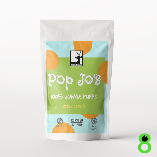Sacred Forest | Pop Jo's Jowar Puffs | Zesty Lemon