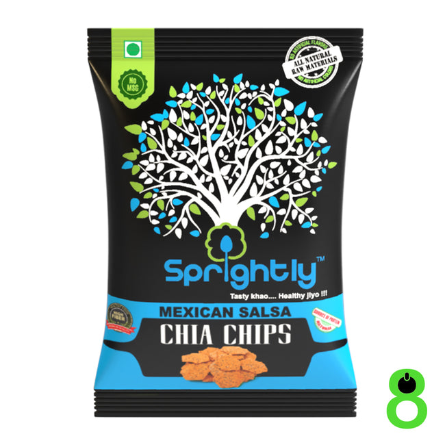 Sprightly - Chia Chips - Mexican Salsa