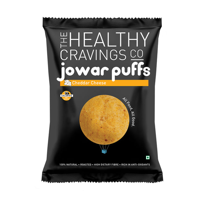 The Healthy Cravings Co - Jowar Puffs - Cheddar Cheese