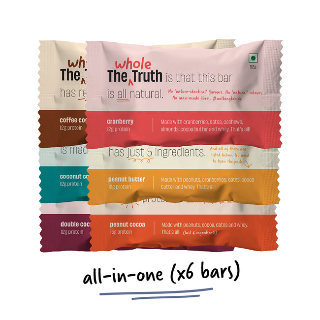 The Whole Truth | Assorted Protein Bars (Pack of 6)