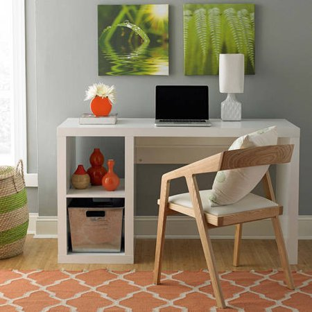 Better Homes and Gardens Cube Organizer Desk, Multiple Finishes